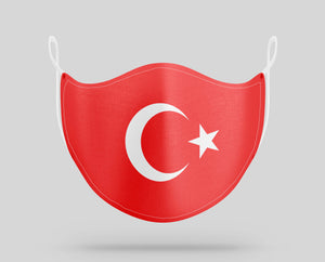 Turkey Flag Designed Face Masks