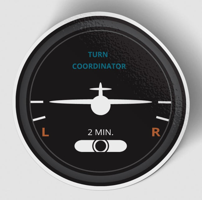 Turn Coordinator 2 Designed Stickers