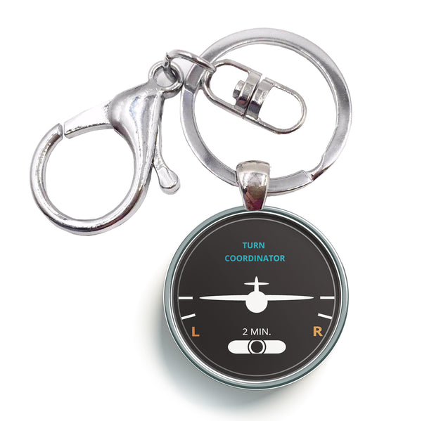 Turn Coordinator Designed Circle Key Chains