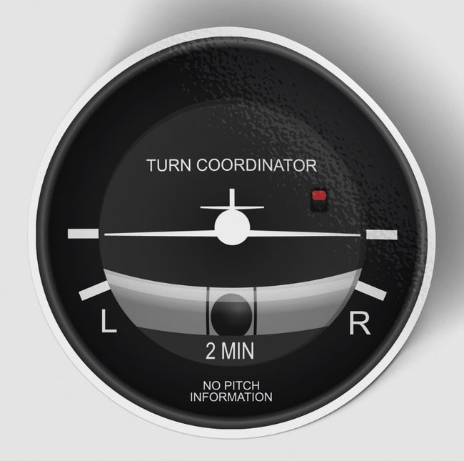 Turn Coordinator Designed Stickers