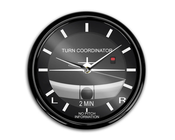 Airplane Instruments (Turn Coordinator) Designed Wall Clocks Aviation Shop