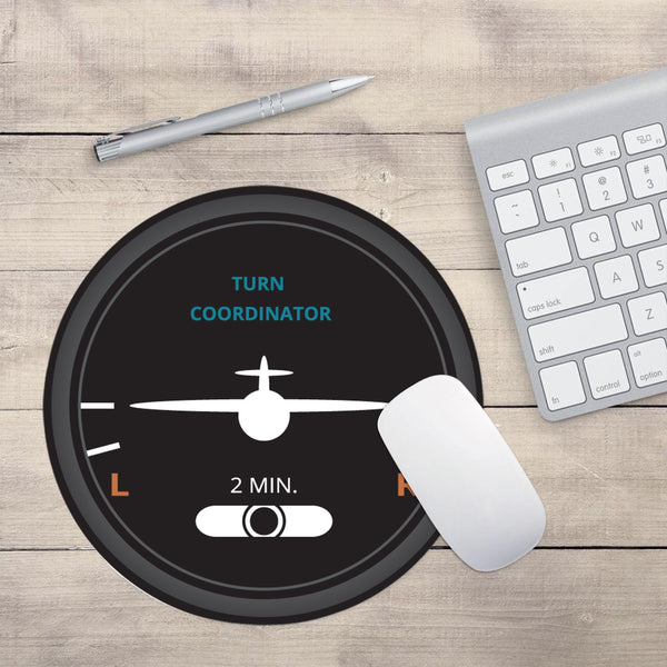 "Airplane Instrument Series ""Turn Coordinator"" Designed Mouse Pads"