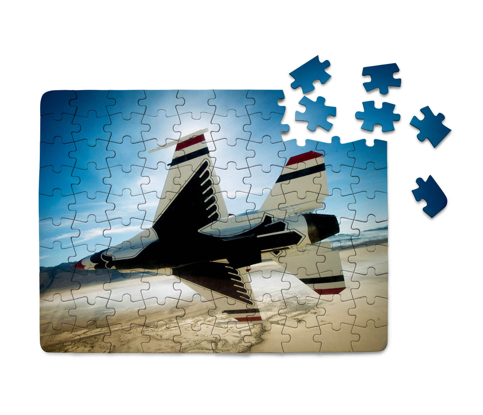 Turning Right Fighting Falcon F16 Printed Puzzles Aviation Shop
