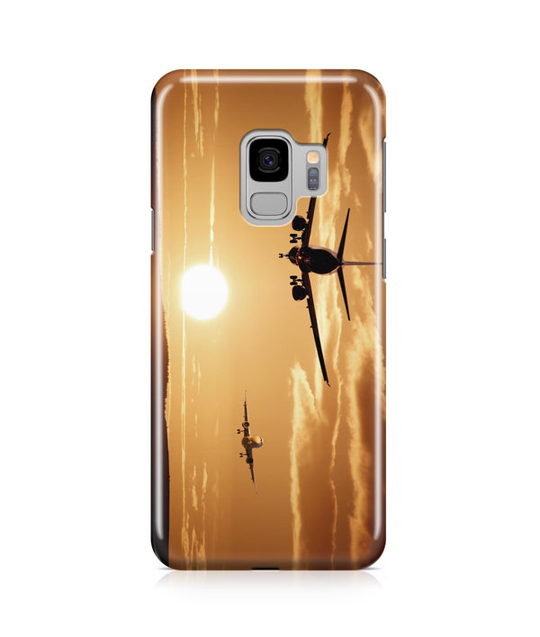 Two Aeroplanes During Sunset Printed Samsung J Cases