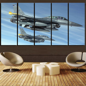 Two Fighting Falcon Printed Canvas Prints (5 Pieces) Aviation Shop
