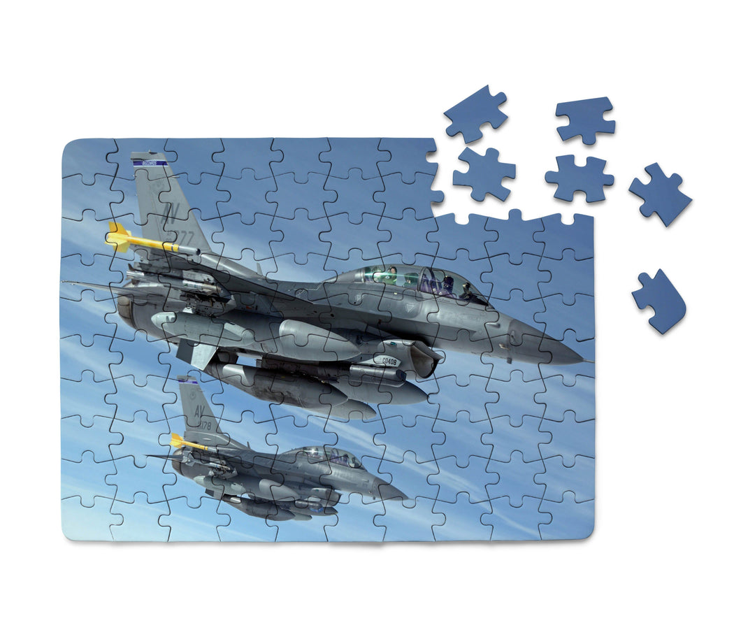 Two Fighting Falcon Printed Puzzles Aviation Shop