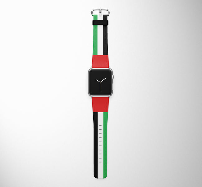 UAE Flag Designed Leather Apple Watch Straps