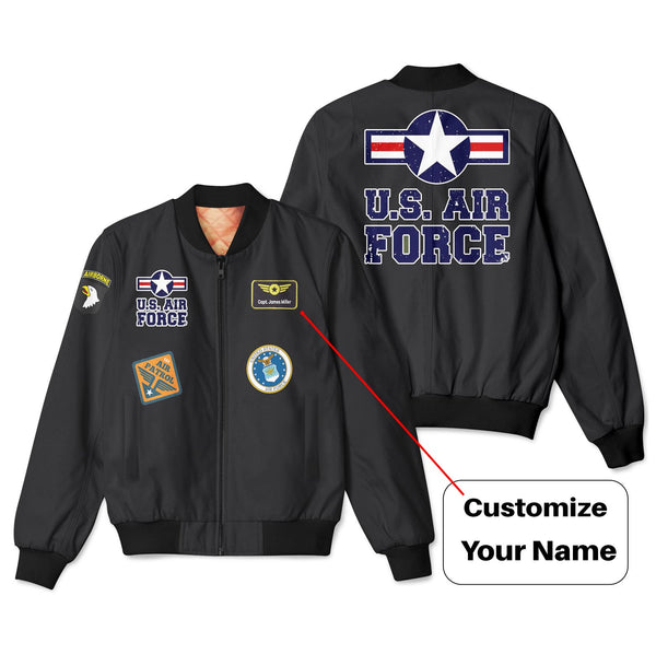 US Air Force + Patches Designed 3D Pilot Bomber Jackets