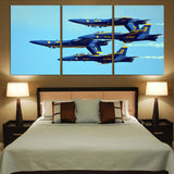 US Navy Blue Angels Printed Canvas Posters (3 Pieces) Aviation Shop