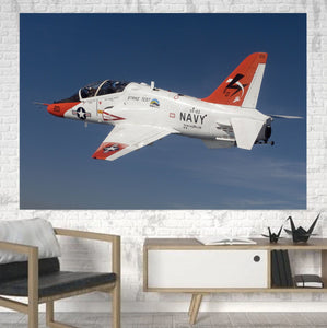 US Navy Training Jet Printed Canvas Posters (1 Piece) Aviation Shop