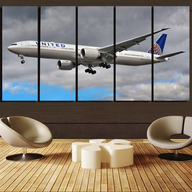 United Airways Boeing 777 Printed Canvas Prints (5 Pieces) Aviation Shop