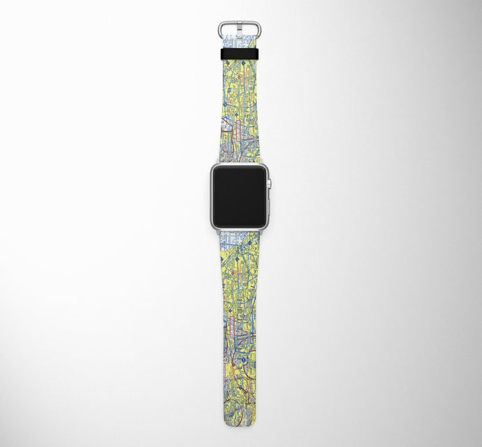 VFR Chart Designed Leather Apple Watch Straps