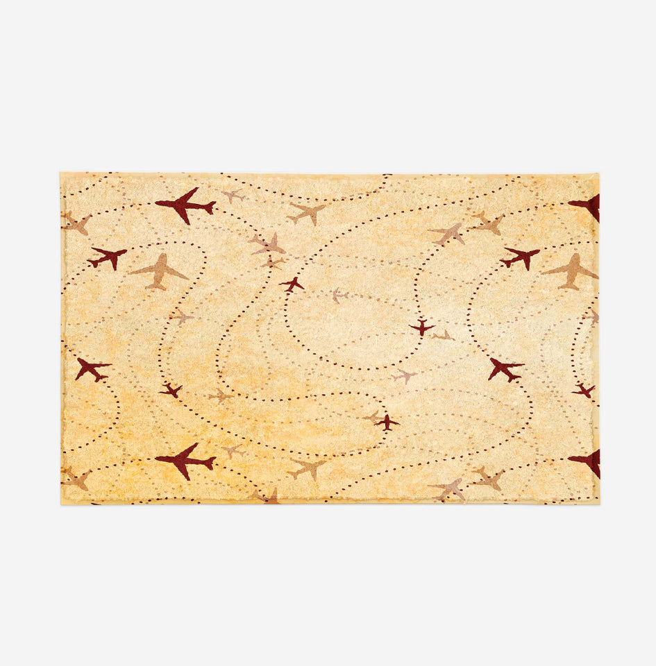 Vintage Travelling with Aircraft Designed Door Mats