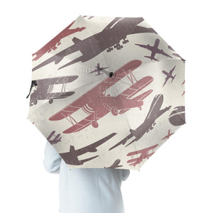 Vintage & Jumbo Airplanes Designed Umbrella