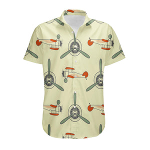 Vintage Old Airplane Designed 3D Shirts
