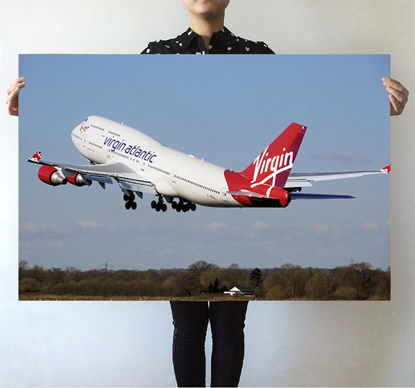 Virgin Atlantic Boeing 747 Printed Posters