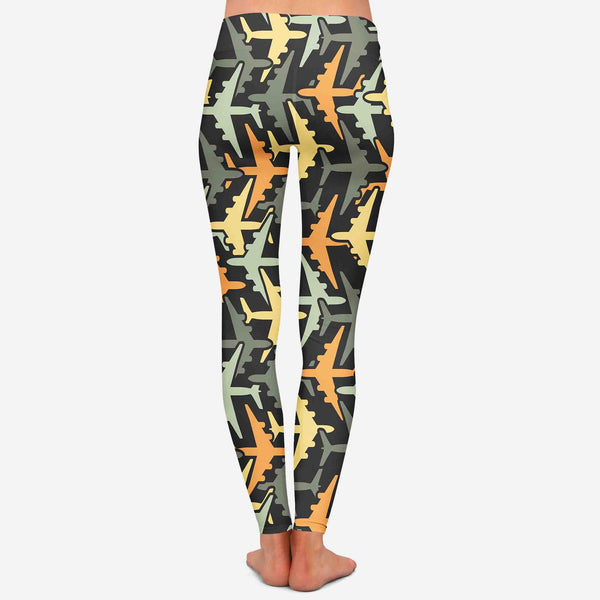 Volume 2 Super Colourful Airplanes Designed Women Leggins