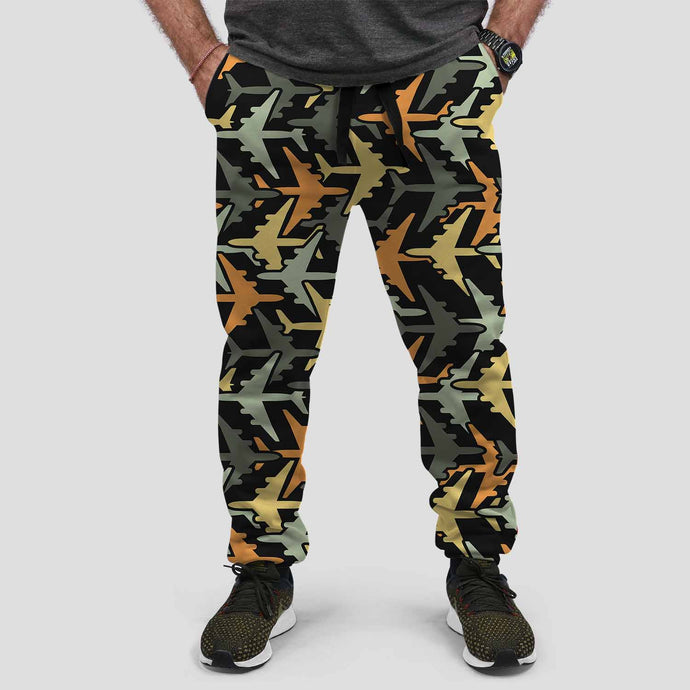 Volume 2 Super Colourful Airplanes Designed Sweat Pants & Trousers