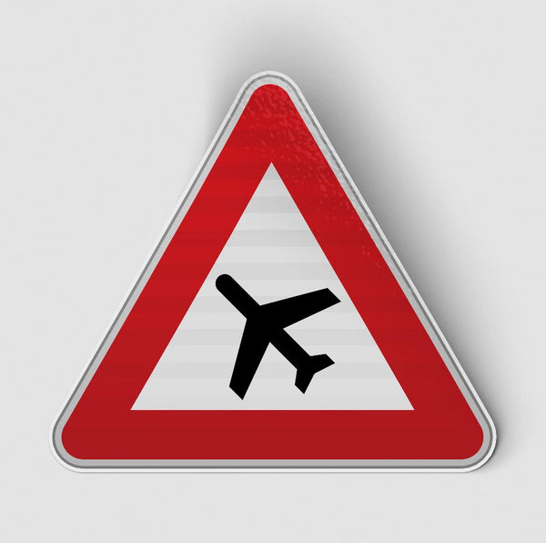Warning Airplane Designed Stickers