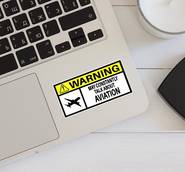 Warning! Aviation Designed Stickers