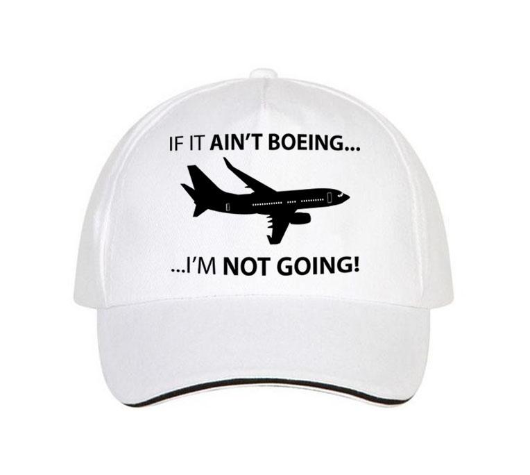 If It Ain't Boeing, I am not Going Hats Pilot Eyes Store White