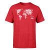 World Map (Text) Designed T-Shirts
