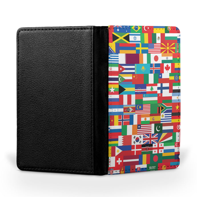 World Flags Designed Passport & Travel Cases