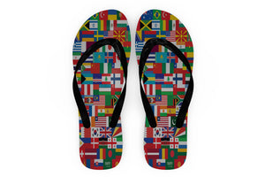 World Flags Designed Slippers (Flip Flops)