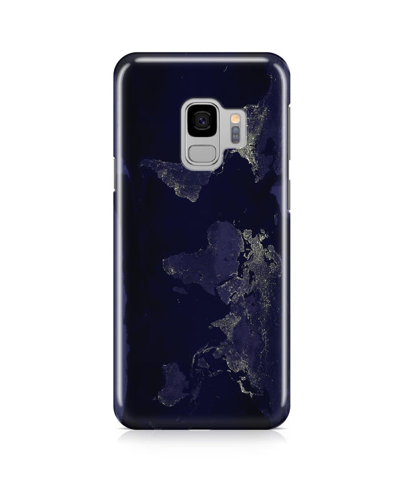 World Map From Space Printed Samsung J Cases