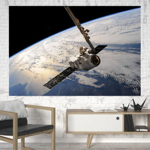 World View from Space Printed Canvas Posters (1 Piece)