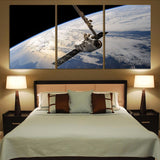 World View from Space Printed Canvas Posters (3 Pieces)