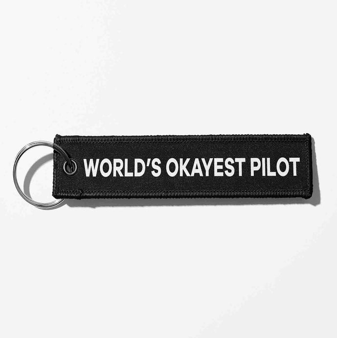 World's Okayest Pilot Light Designed Key Chains