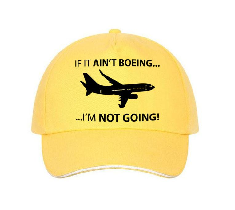 If It Ain't Boeing, I am not Going Hats Pilot Eyes Store Yellow