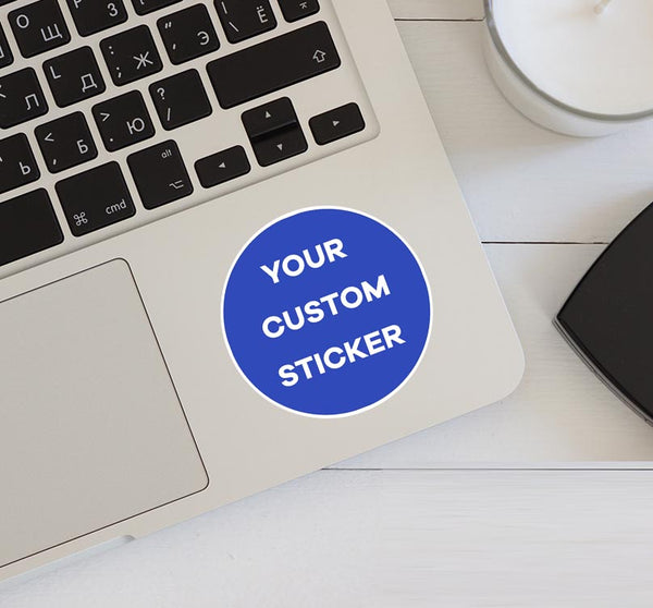 Your Custom Photo (Circle) Designed Stickers