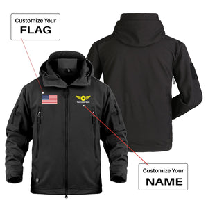 Custom Flag & Name (4) with Badge Designed Military Jackets
