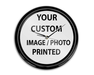 Your Custom Photo / Image Designed & Printed Wall Clocks Aviation Shop