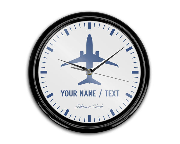 Your Name / Text Printed Wall Clocks Aviation Shop