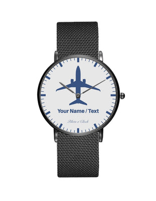 Your Name / Text Printed Stainless Steel Strap Watches