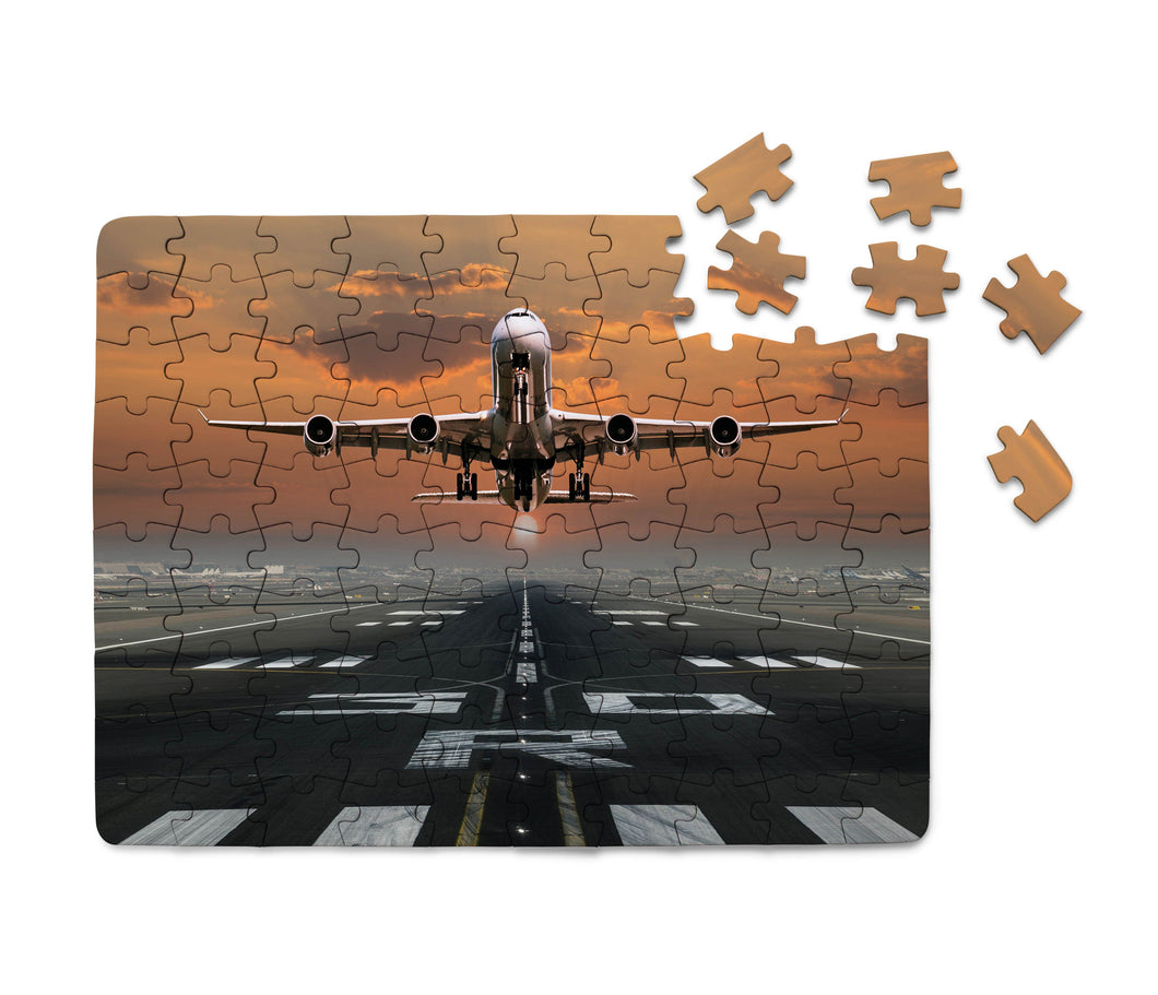 Aircraft Departing from RW30 Printed Puzzles Aviation Shop