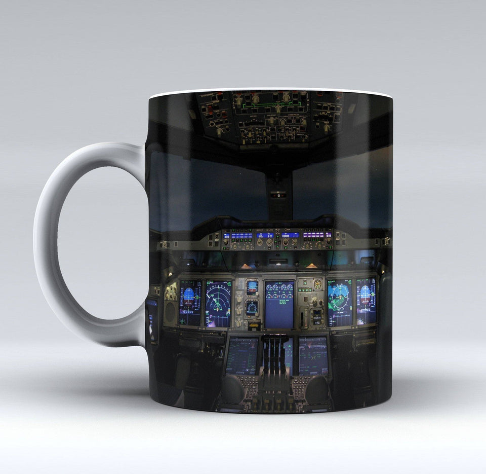 Airbus A380 Cockpit Printed Mugs