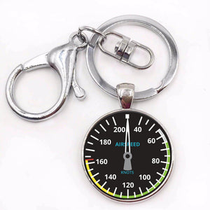 Airplane Instrument Series (Airspeed) Key Chains