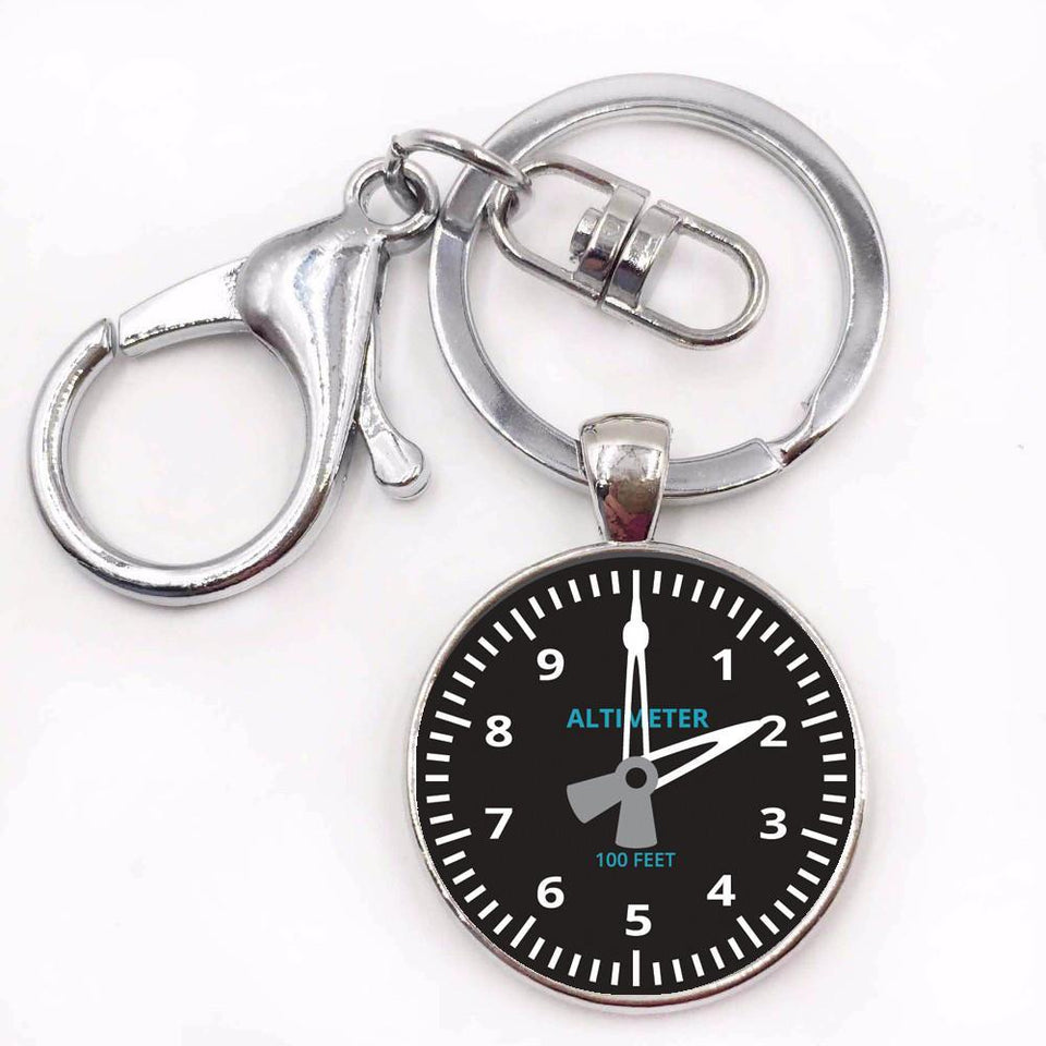 Airplane Instrument Series (Altimeter) Key Chains