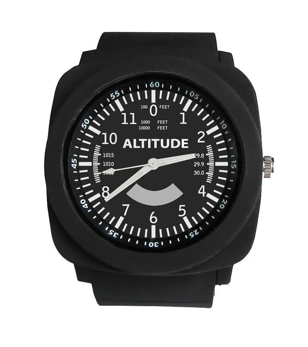Airplane Instrument Series (Altitude) Rubber Strap Watches