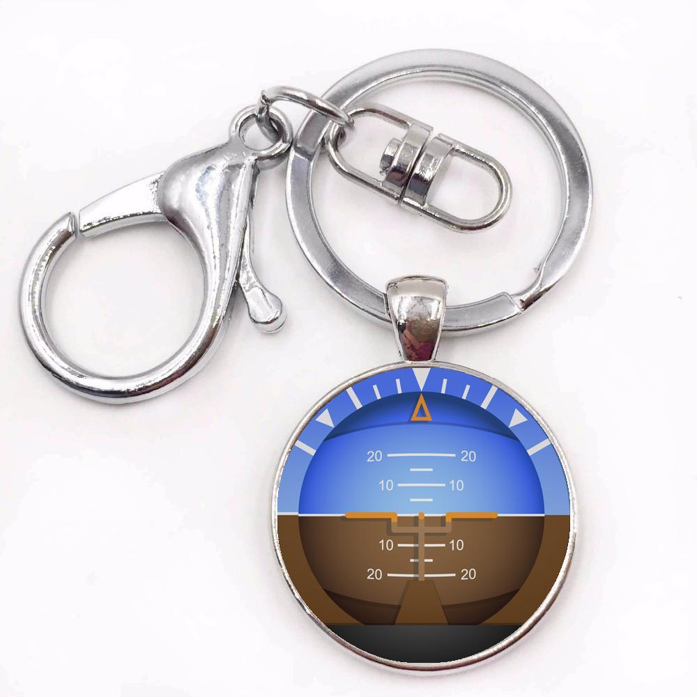 Airplane Instrument Series (Gyro Horizon 2) Key Chains