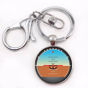 Airplane Instrument Series (Gyro Horizon) Key Chains