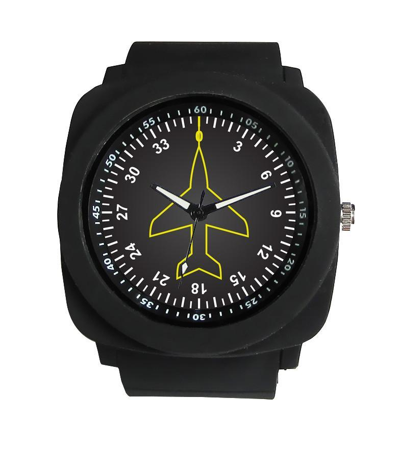 Airplane Instrument Series (Heading) Rubber Strap Watches