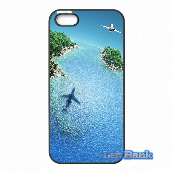 Airplane Over Beautiful Scenery HTC Cases