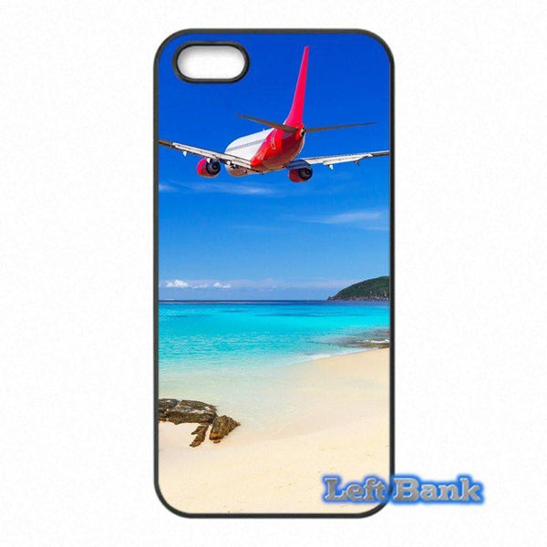 Airplane Over Tropical Beach HTC Cases