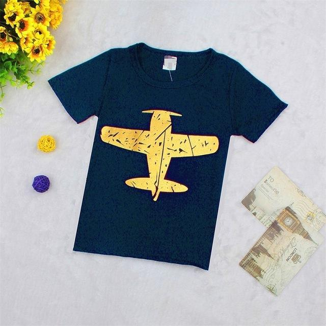 Big Airplane Shape Printed Babies And Kids T-Shirts