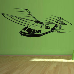 Big Helicopter Designed Wall Stickers